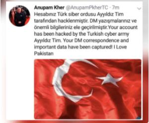 Anupam kher hacked