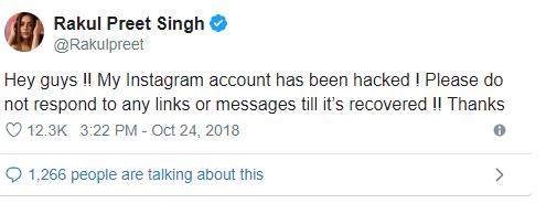 Rakulpreet hacked